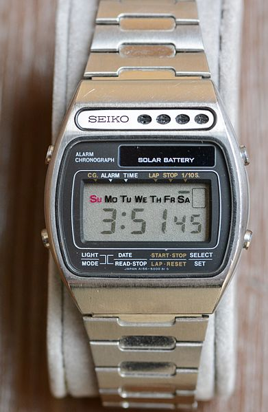 Different Types of wrist Watches - Solar-Powered watch